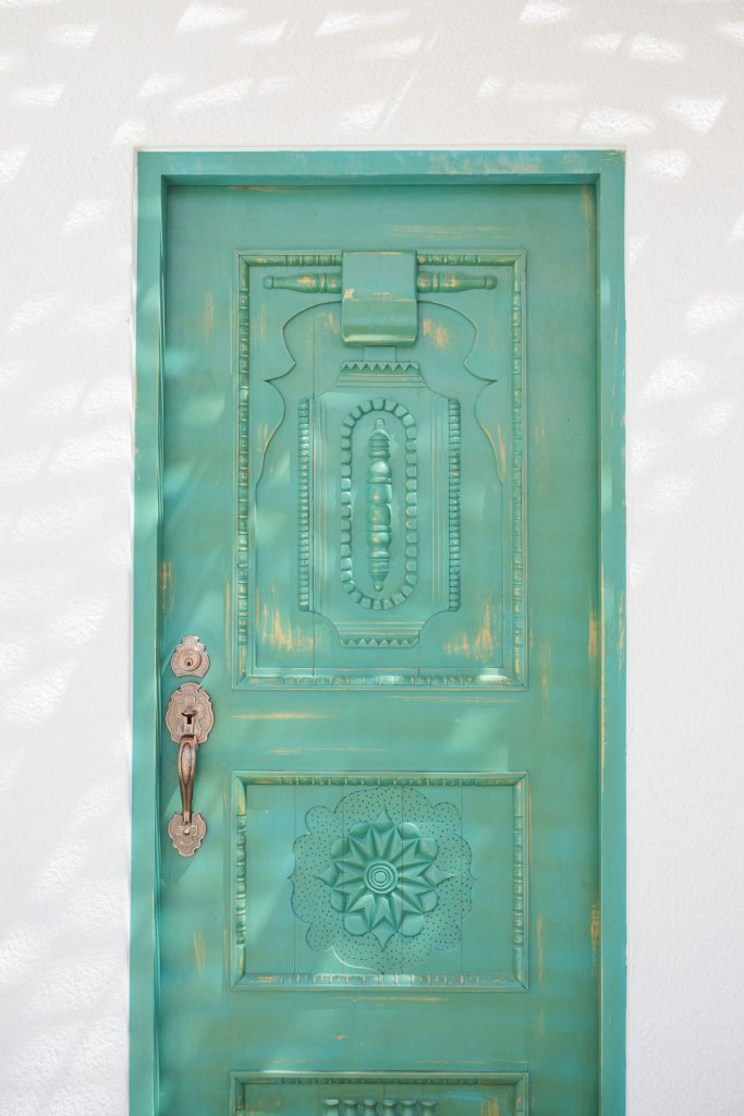 Green door at our yoga retreat in Mexico - Casa Tara Retreat